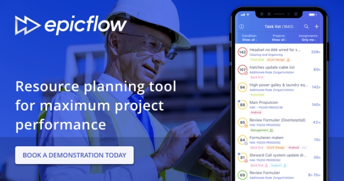 Booking free demonstration of Epicflow multi-project management tool
